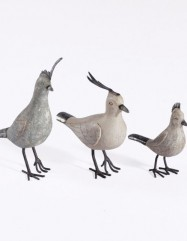 Crested Birds (Set of 3)