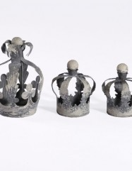 Crown Candle Holders (Set of 3)