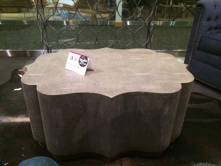 transitional faux shagreen coffee table