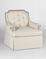 Victoria Swivel Chair | Custom Tailored