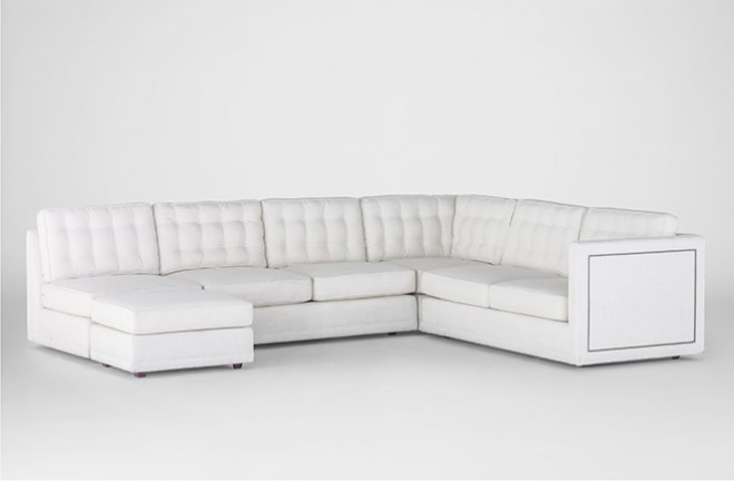 custom sectional sofa tufted upholstery | Abbott-Sectional-Sofa