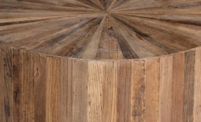 transitional coffee table made from reclaimed wood