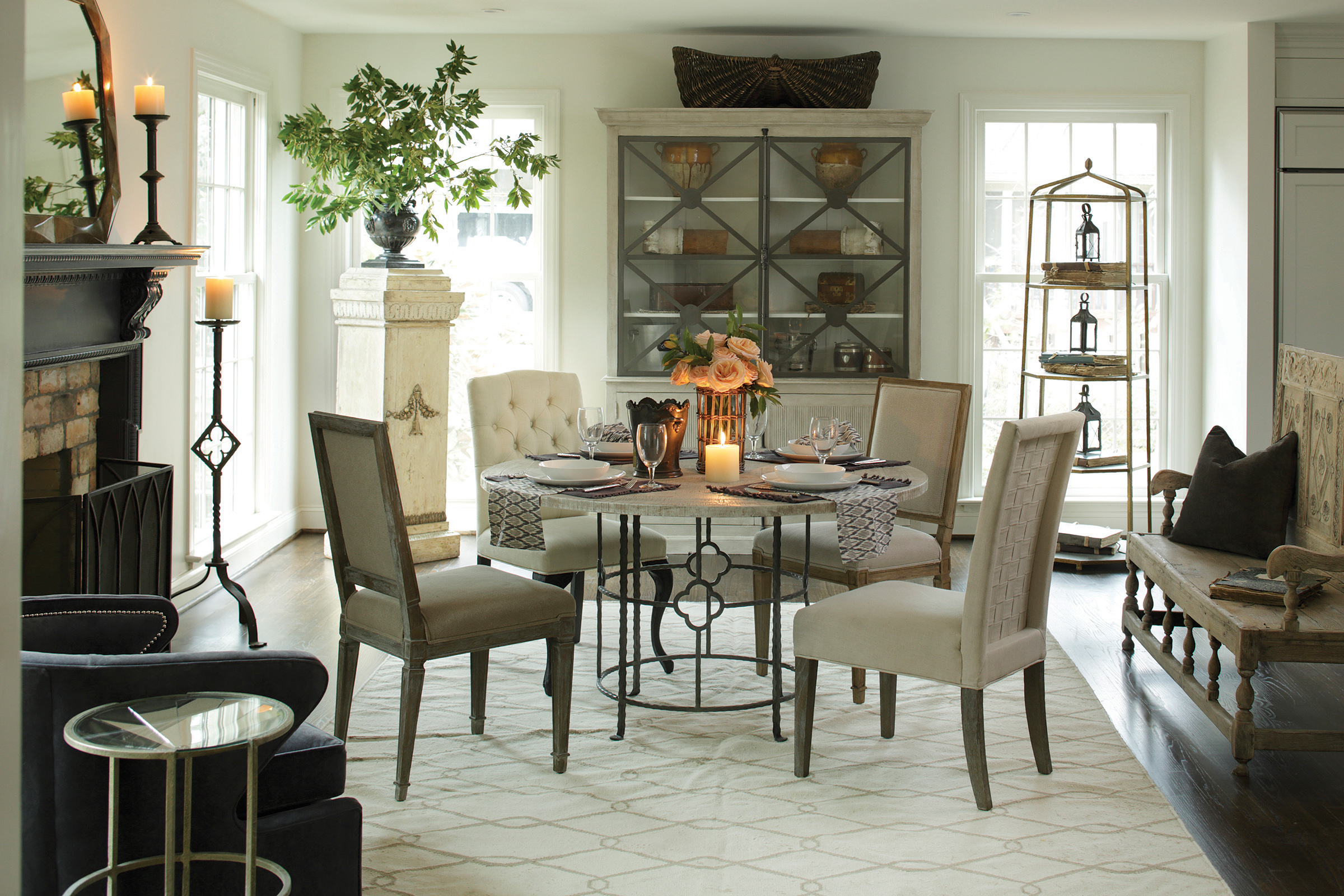 Transitional dining room - Conversational Chic Vintage Modern Meets Eclectic Furniture