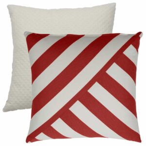 Cajun T-Stripe With Matelasse Tufted Canvas Backing And Knife Edge