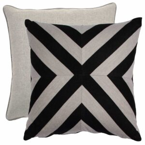 Midnight And Dove X-Stripe With Linen Dove Backing And Knife Edge
