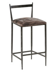 Ward Counter Stool (Black and White hide)