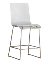 King Counter Stool (Silver)