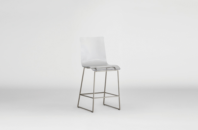King Counter Stool Silver Gabby