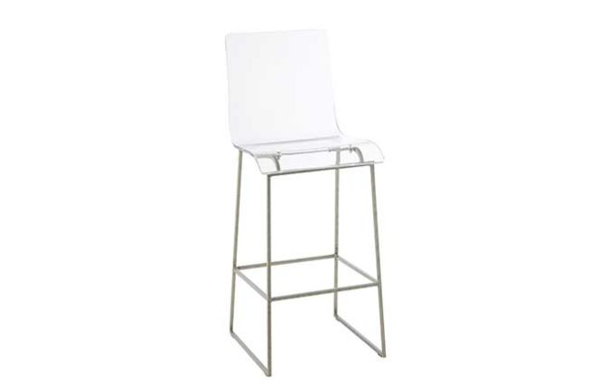 King Bar Stool (Silver)