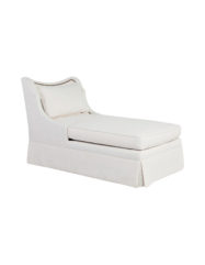 Lennox- Skirted Chaise | Custom Tailored