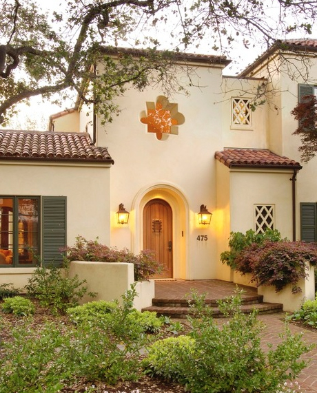 Palo Alto Mediterranean Custom Home 14,653 Saves | 14 Questions A quatrefoil window adds a front-and-center focal point to this Mission revival home. Photo by Conrado - Home Builders - Search Mediterranean exterior design ideas [houzz=http://www.houzz.com/photos/540262/Palo-Alto-Mediterranean-Custom-Home-mediterranean-exterior-san-francisco]