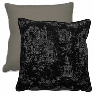 Midnight With Melange Linen Texture Stone Backing And Snow Welt