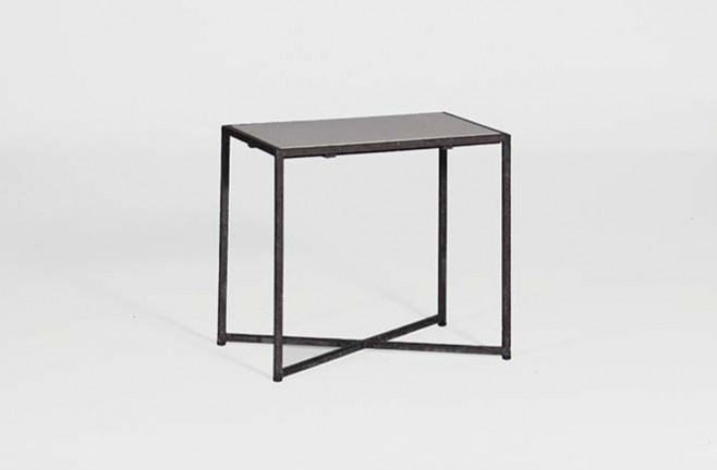 Black metal side table transitional metal accent table giles table