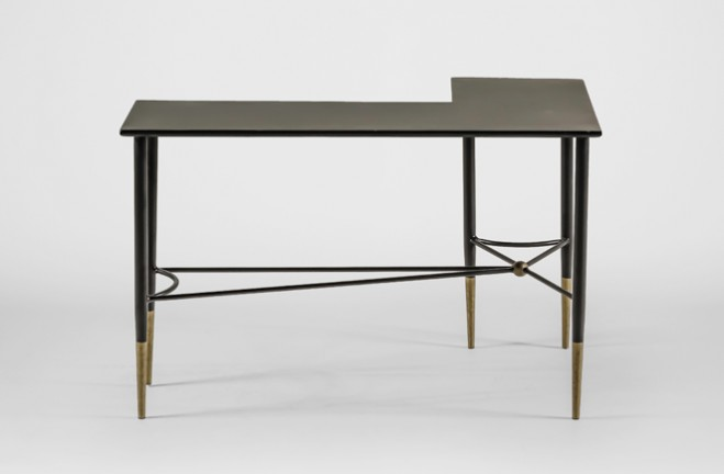 Perfect ... Collier Wrap Around Table | Black And Gold Side Table   Gabby ...