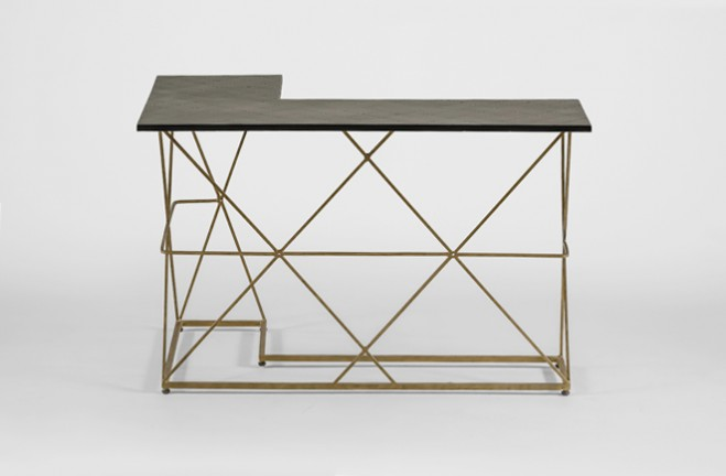 Delightful ... Dean Gold And Black Wrap Around Table   Gabby ...