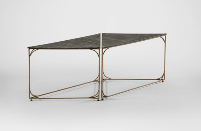 Hope black and gold bunching tables | metal and shagreen - Gabby