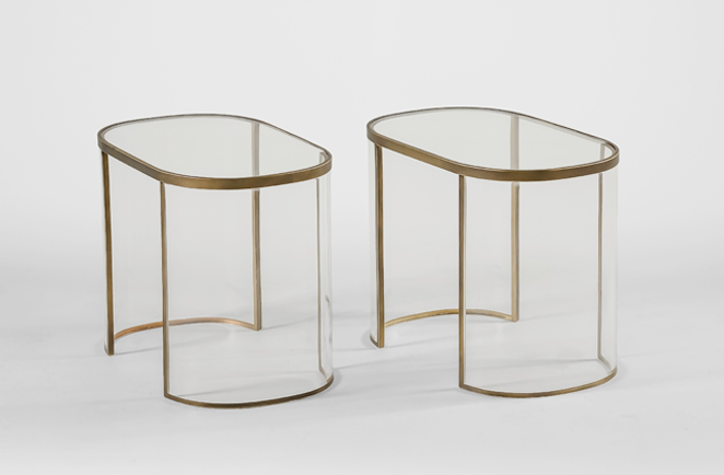 Cindy Bunching Tables | lucite accent tables - Gabby