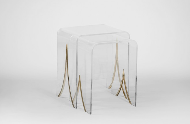 Magnolia lucite nesting tables - Gabby