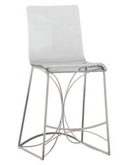 Angela Counter Stool-Silver