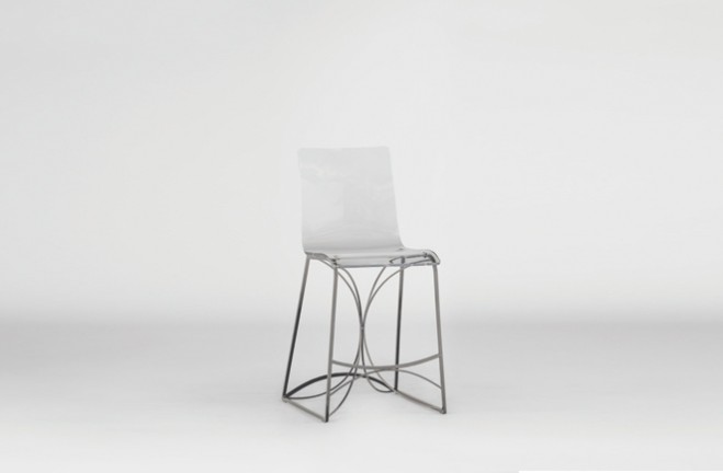 Angela Counter Stool Silver Gabby