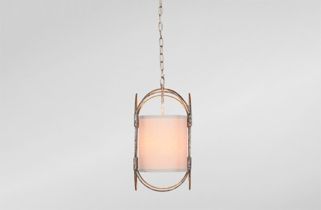 Orchid transitional drum Pendant - Gabby