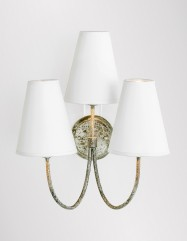 Jamie Sconce - Silver/White