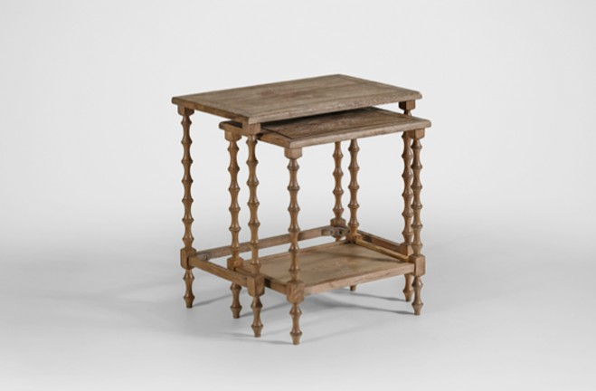 Lionel Oak Nesting Tables - Gabby