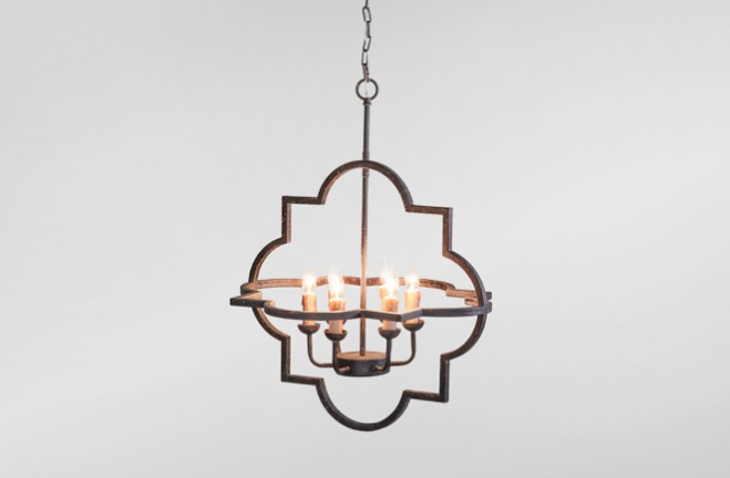 Athena large rustic metal chandelier | Gabby
