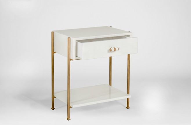 Gold And White Side Table Jolene Gabby
