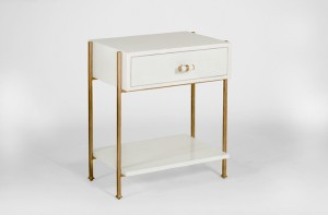 Jolene gold and white side table - Gabby