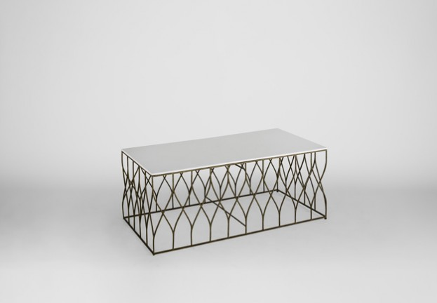 large gold and white coffee table | Stratton by Gabby