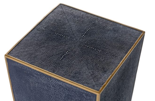 Gabby Cecil Gold Amp Blue Shagreen Drink Table