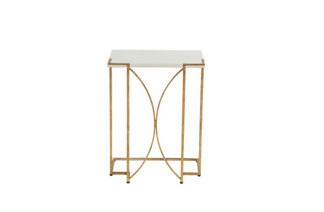 Metal C table | Amber gold C table | Gabby