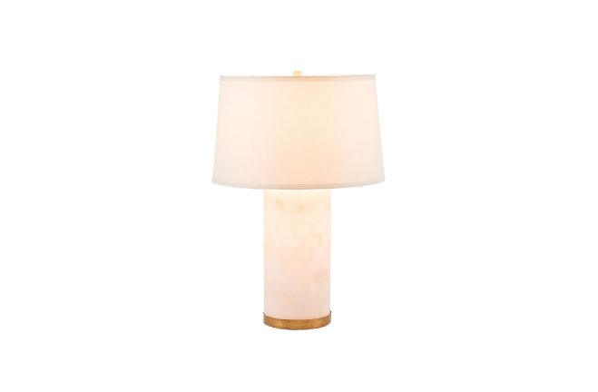 Alabaster Column Lamp | Maple Table Lamp | Gabby