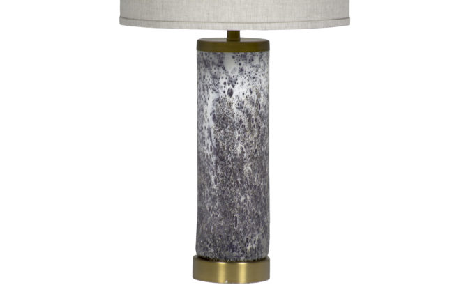 Brass Floor Lamp With Glass Table