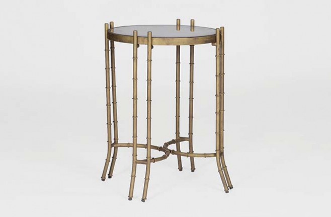 Mirrored Hollywood Regency Style Table