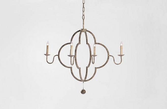 Quatrefoil Transitional Chandelier