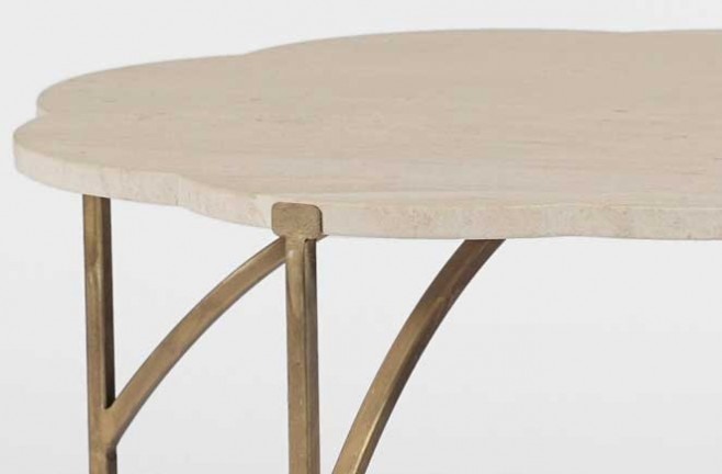 Transitional Accent Table Gillian Flower Table