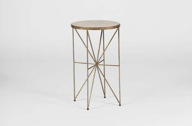 Transitional Horn Accent Table. Transitional Horn Drink Accent Table   Nina Table