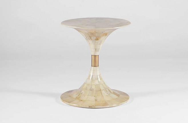 Transitional Horn Occasional Table