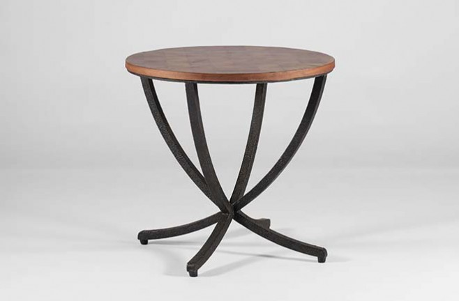 Oyster Veneer Transitional Accent Table | Thaddeus Side Table