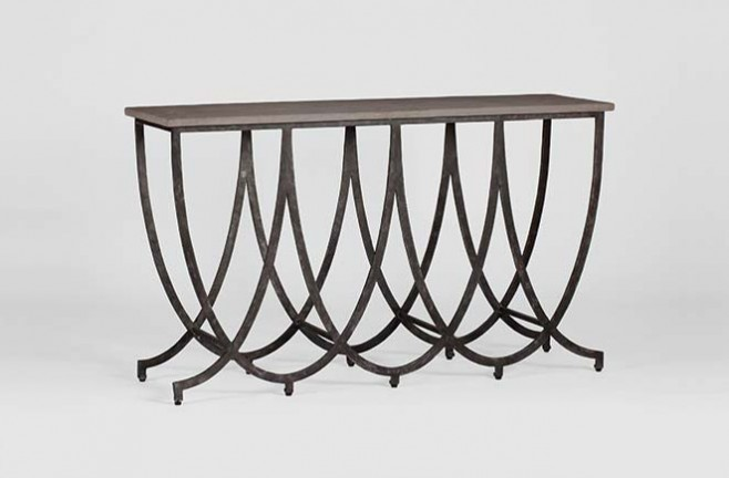 Transitional Iron Console Table