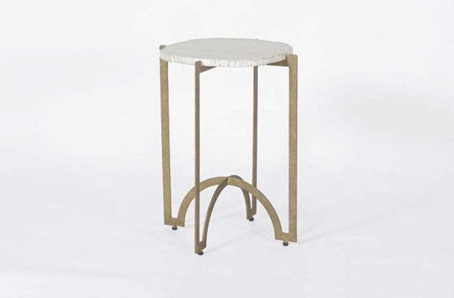 Transitional Bone Occasional Table