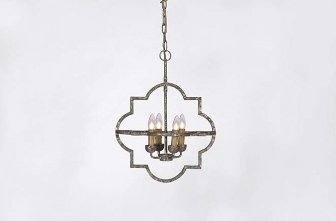 Antique Silver Chandelier