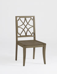 Gabby Penelope Clear Lucite And Silver Metal Dining Chair