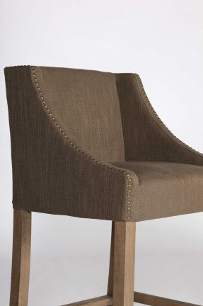 Transitional Unique Nailhead Barstool Chair | Winston Barstool