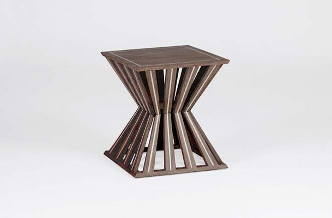 Transitional Oak Occasional Table