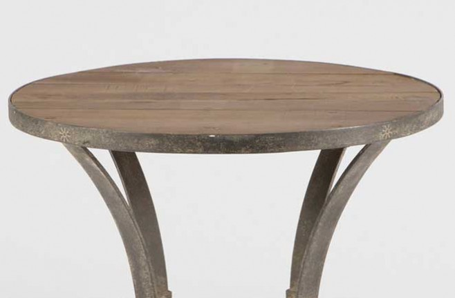 Reclaimed Wood Table Charles Side Table Top Detail ... - Reclaimed Wood Table Transitional Charles Side Table