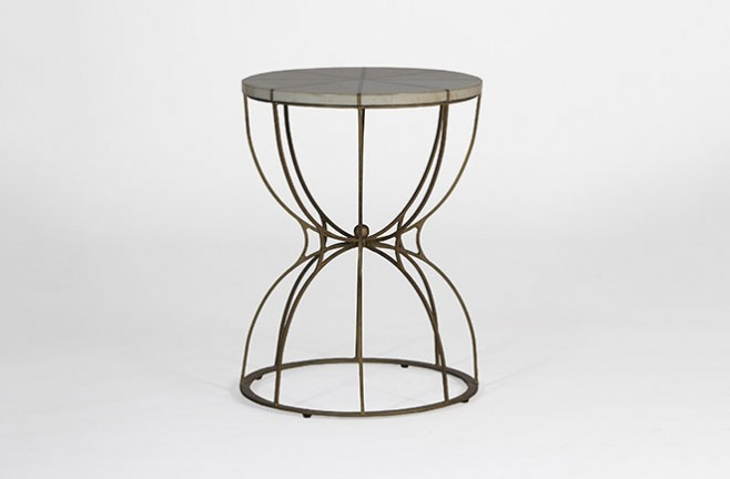 High Quality Gabbert Transitional Round End Table