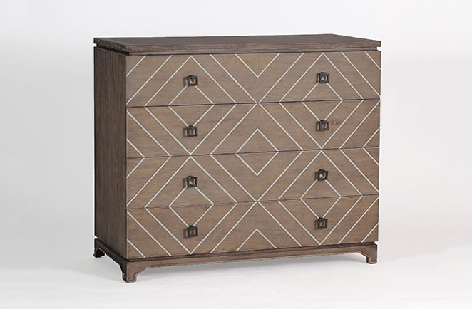 Terrance eclectic chest of drawers